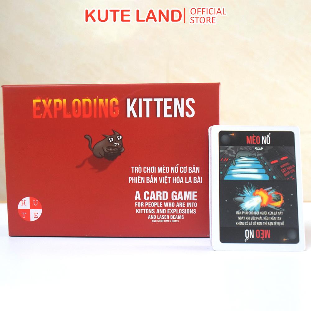 Bộ Bài Mèo Nổ Việt Hóa Lá Bài Exploding Kittens 56 Lá Bản Chuẩn Đẹp