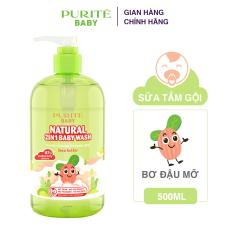 Sữa Tắm Gội Purité Baby Hương Hoa Thiên Nhiên 2in1 Bơ Đậu Mỡ