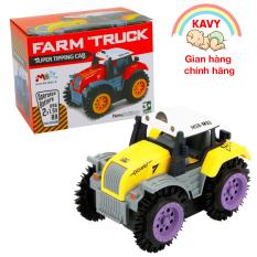 Đồ chơi cho bé xe tải nông trại chạy pin, chạy khỏe, bền và đẹp (màu vàng)- KAVY