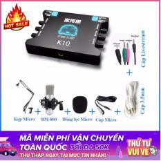 Combo sound card thu âm/Karaoke/Livestream online chuyên nghiệp XOX K10