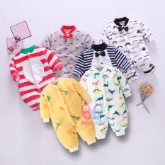 Áo liền quần Body nỉ nhung cho bé Trai bé Gái Hàng Quảng Châu xuất Nhật SLN 01