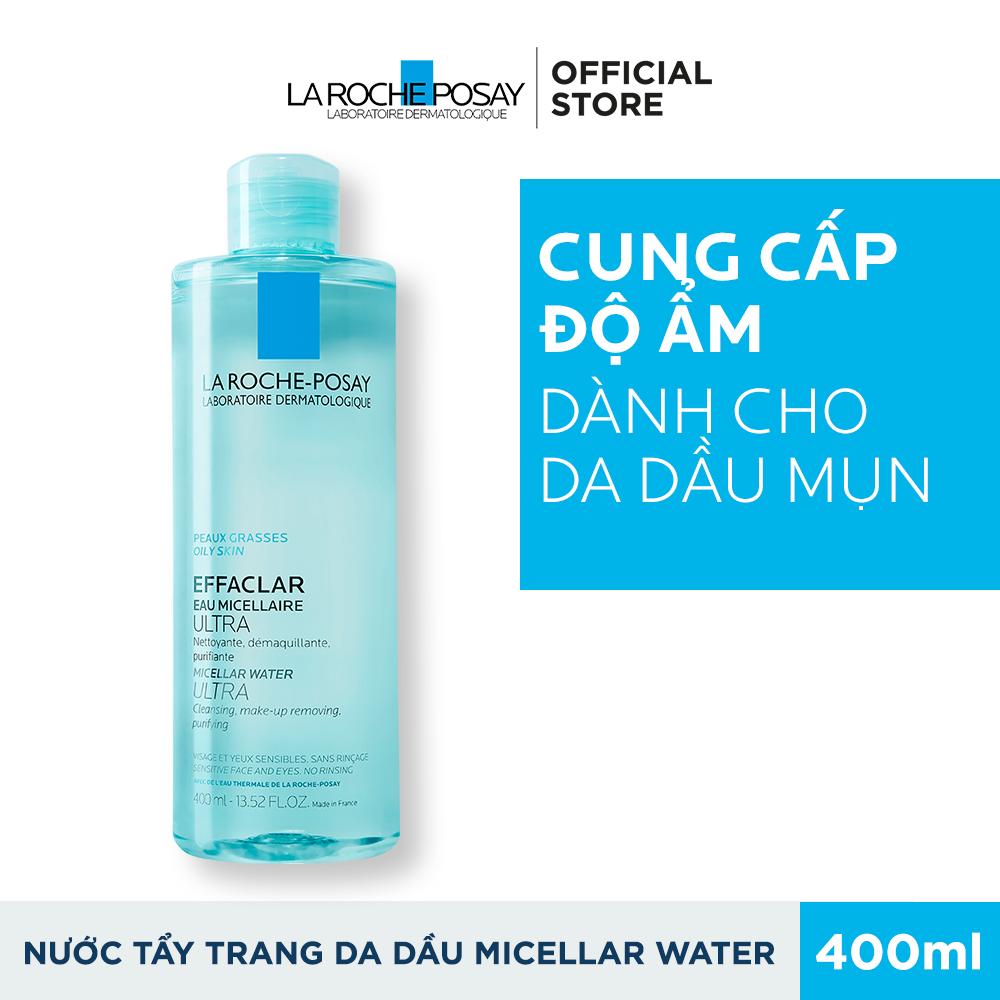 Nước làm sạch sâu và tẩy trang dành cho da mụn, da dầu nhạy cảm La Roche-Posay Effaclar Micellar Water 400ml