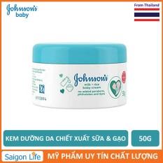 Kem Dưỡng Da Chiết Xuất Sữa Và Gạo Johnson's Milk And Rice Baby Cream 50g