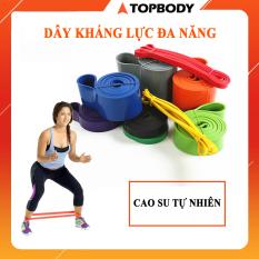 Dây kháng lực Power Band đa năng, hỗ trợ luyện tập thể dục, tiện lợi tại nhà, văn phòng TOPBODY – DKHAL01