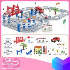 Bộ đồ chơi đường đua ô tô tàu lượn 88 chi tiết (loại to)