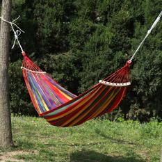 Red Võng lưới bằng vải, võng loại đơn, đôi ngoài trời; võng bằng vải lưới,cán gỗ cho người lớn, trẻ nhỏ, võng trong nhà, ngoài trời, chống lật
