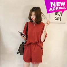 (Có video) Set đồ nữ áo tay lỡ và quần form rộng hot trend Hàn Quốc, phù hợp với mọi lứa tuổi mọi vóc dáng dễ phối trang phục,, có size 3XL cho người dưới 80kg