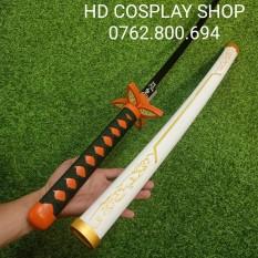 Mô hình kiếm Kimetsu no yaiba phiên bản Anime của đầy đủ các nhân vật và các trụ trong Kimetsu no yabai làm bằng gỗ dài 1m Tặng Giá Đỡ