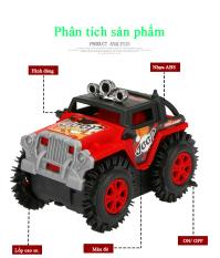Xe Jeep đồ chơi ô tô cho bé chạy pin AA chi tiết sắc sảo, nhựa ABS an toàn cho người sử dụng (màu đỏ – chưa kèm pin)