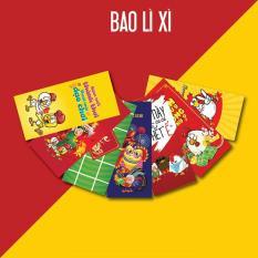 Bao lì xì tết 2019, Set 10 Bao Lì Xì Tết 2019, Bao lì xì tết đẹp nhiều hình đủ màu sắc, đa dạng mẫu (Giao ngẫu nhiên)
