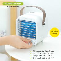 Quạt mini để bàn Nanum, quạt làm mát không khí trong phòng làm việc, phòng ngủ. Quạt điều hòa USB làm lạnh bằng đá cao cấp của NANUM – ICE01