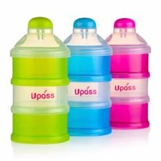 Hộp Đựng Sữa Bột Có Vách Ngăn UPASS UP8015NX/ UP8015NL/UP8015NH (Xanh-Hồng-Lá) Cho Mẹ Và Bé, Có Thể Tháo Rời, Thiết Kế Nhựa Không Chứa BPA