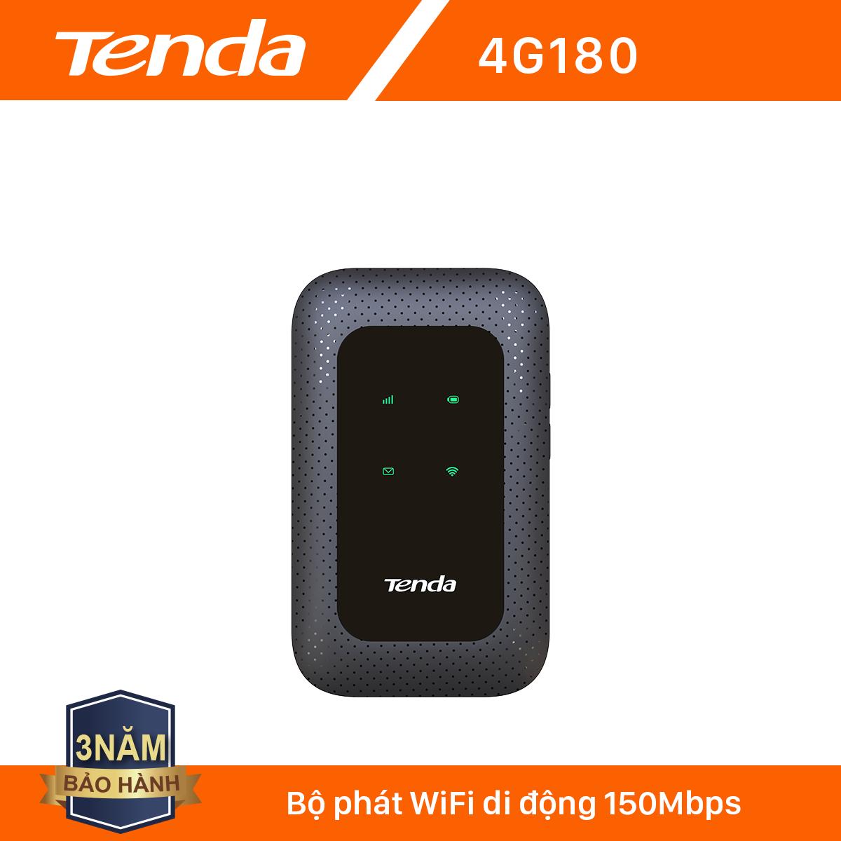 [Nhập ELCLNOV8 giảm thêm 8%] Tenda Bộ phát Wifi di động 4G LTE 4G180 – Hãng phân phối chính thức