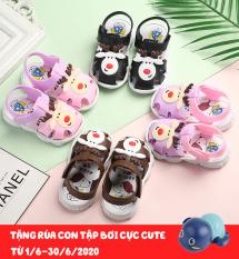 [CỰC HOT TẶNG RÙA TẬP BƠI] Dép tập đi cho bé 1-2-3 tuổi, dép quai hậu bé gái, sandal tập đi cho bé trai và bé gái hình tuần lộc+snoopy dễ thương