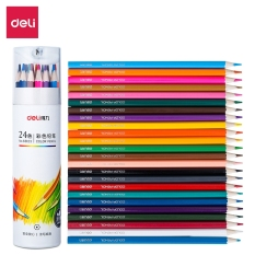 Bút chì màu chuyên nghiệp dạng cốc Deli 24/36/48 màu – 68123/68124/68125