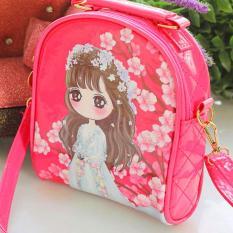[HCM]Túi xách đeo chéo công chúa cao cấp cho bé gái bằng da bóng sang trọng phối tone hồng nữ tính BBShine – TX036