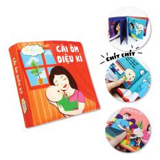 Sách vải cho bé, đồ chơi giáo dục sớm Lalala Baby, đa tương tác, câu chuyện ý nghĩa. Kích thước lớn 18x18cm, 12 trang Made in Việt Nam