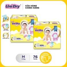 [Freeship] Combo 2 tã dán Unidry gói Super Jumbo size M (76 miếng)