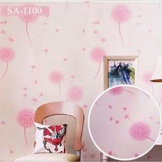5M Giấy Dán Tường – Decal dán tường- Hoa Bồ Công Anh màu tím hồng-HPMWallpaper