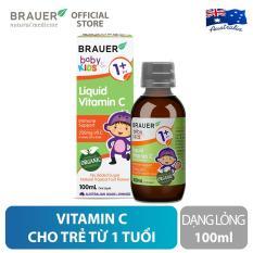 Vitamin C Brauer dạng lỏng (100ml), hỗ trợ tăng cường sức đề kháng, cho trẻ 1 tuổi trở lên
