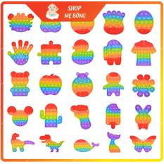 Đồ chơi POP IT, đồ chơi bấm nút bằng ngón tay được làm từ silicon – Giúp giảm căng thẳng dành cho người lớn và trẻ em
