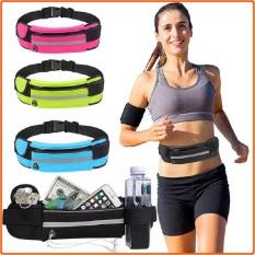 Túi đeo hông chạy bộ thể thao nam, nữ , túi đeo bụng chạy bộ thiết kế dây nịt, không thấm nước, có lỗ tai nghe thông minh và dải phản quang an toàn