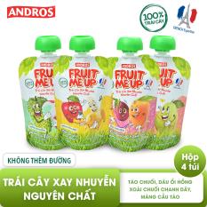 FRUIT ME UP – Trái cây xay nhuyễn nguyên chất – Hỗn hợp 4 vị – 90g x 4