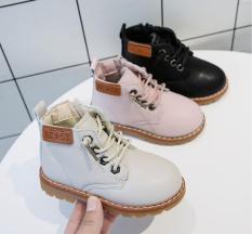 Giày boot da trẻ em cực đẹp da mềm đi êm chân có lớp lót nỉ phía trong