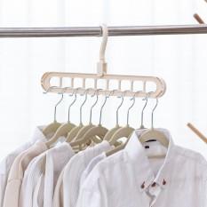 Móc treo quần áo xoay 360 độ đa năng 9 lỗ tiết kiệm diện tích bst2341
