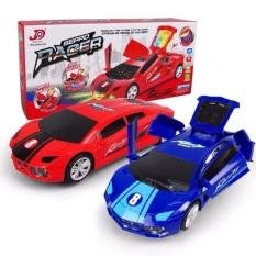 [Tự lái] Hộp đồ chơi xe đua tự mở cửa chạy pin có đèn nhạc cao cấp dành cho bé MS:JD193-19A