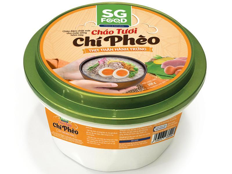 Cháo Tươi Chí Phèo Sài Gòn Food Thịt Thăn Hành Trứng 350g