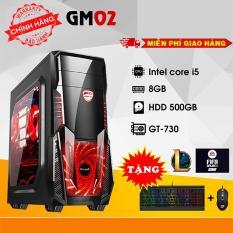 Máy tính chơi Game 4TechGM02 core i5, ram 8GB, hdd 500gb, vga GT730(chuyên LOL, FIFA, Stream) – Tặng phím chuột Gaming DareU