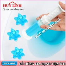 Gel khử mùi bồn cầu dạng thạch hình bông hoa, gel thơm khử trùng bồn cầu, khử mùi nhà vệ sinh, Huy Linh (GH06)