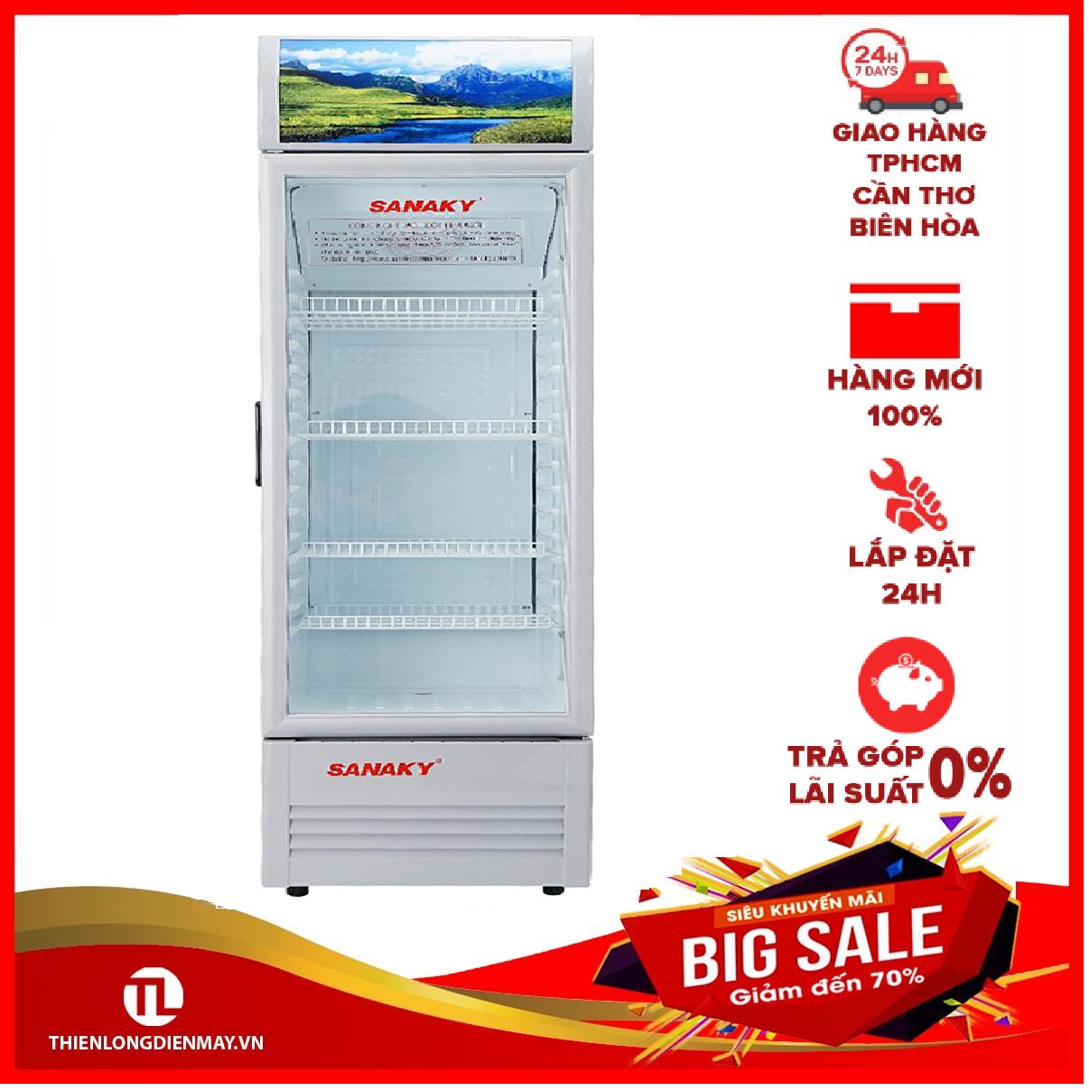 [Trả góp 0%]Tủ mát Sanaky 340 lít VH-408KL