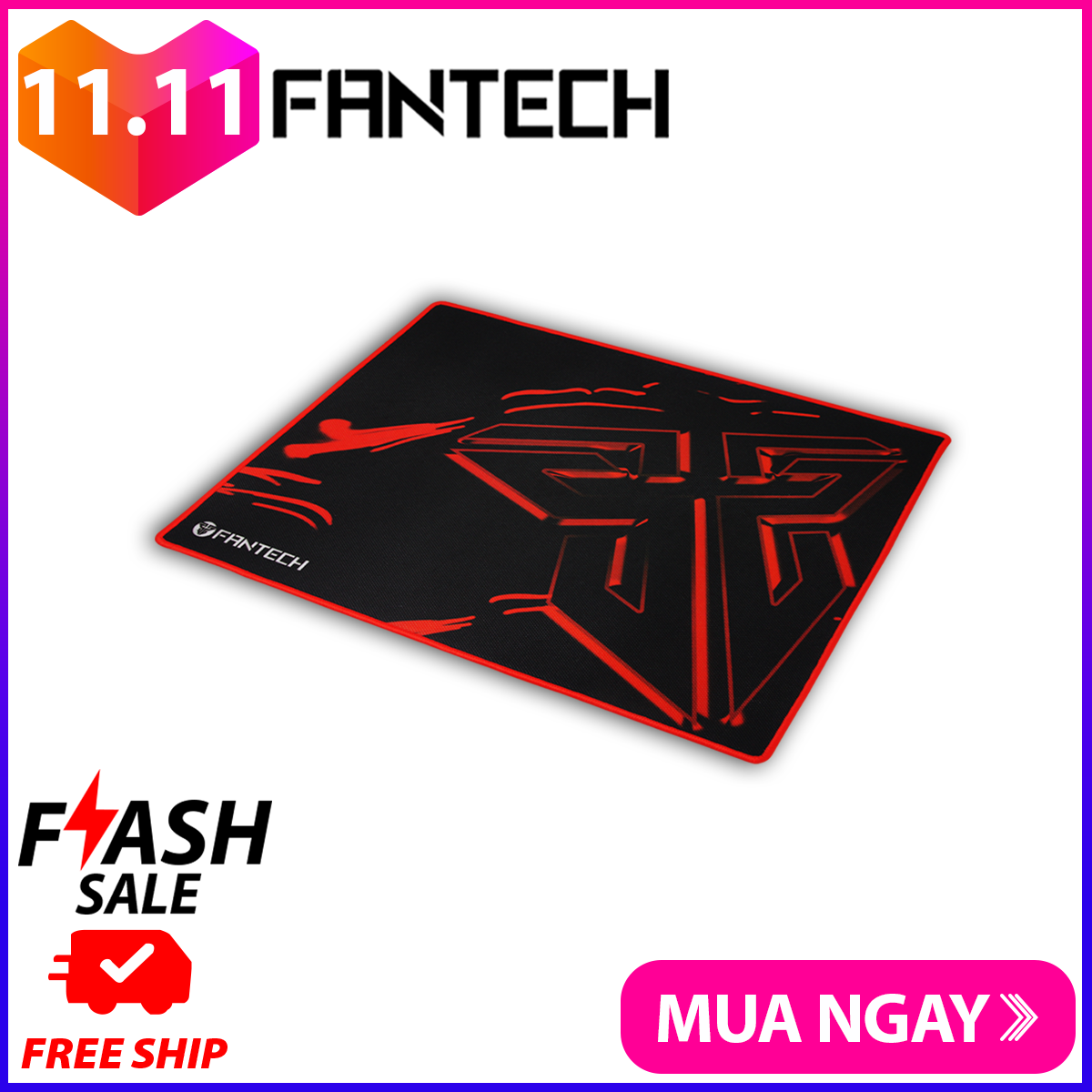 Đế lót di chuột tốc độ cao – Fantech MP35 – chất liệu cao su tự nhiên, đế chống trượt, dài 350mm, rộng 250mm, dày 4mm, giúp di chuột một cách dễ dàng – Hãng Phân Phối Chính Thức