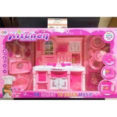 Đồ chơi nhà bếp bằng nhựa màu hồng Kitchen No.6801-A