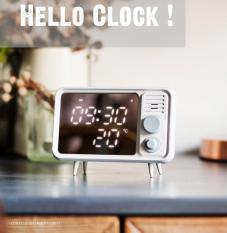 Đồng hồ Retro ghi âm báo thức đo nhiệt độ