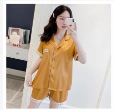 [Bộ Đồ Pijama Lụa Phối Chữ]-❣FREESHIP❣-Vải Đẹp Loại 1-Tay Ngắn Quần Đùi Sang Trọng-(Size M dưới 56kg, L dưới 62kg).