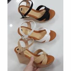 Giày đế xuồng 9cm quai thắt nơ đơn giản (LT-X008)