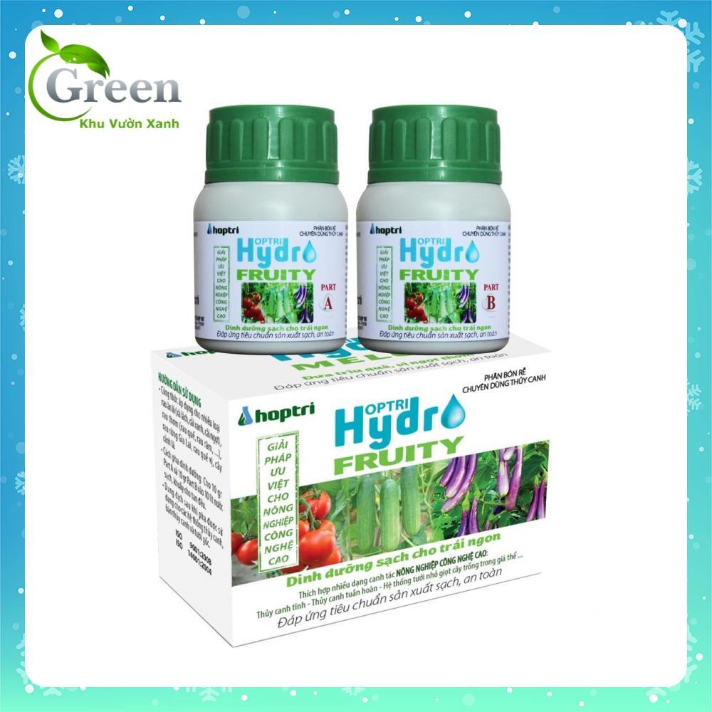 Dinh dưỡng thủy canh chuyên dùng rau ăn trái - hộp 2 chai