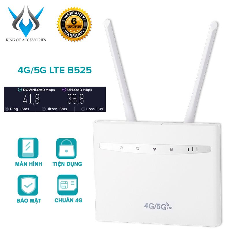 [TẶNG 10 BAO LÌ XÌ] Phát wifi từ sim 4G/5G LTE B525 sóng siêu mạnh siêu xa – dùng nguồn trực tiếp 12V (trắng)