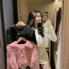 áo len lông cổ bẻ nút ngọc mẫu thời trang thu đông siêu xinh hàng QCCC chất len lông siêu mịn m0046