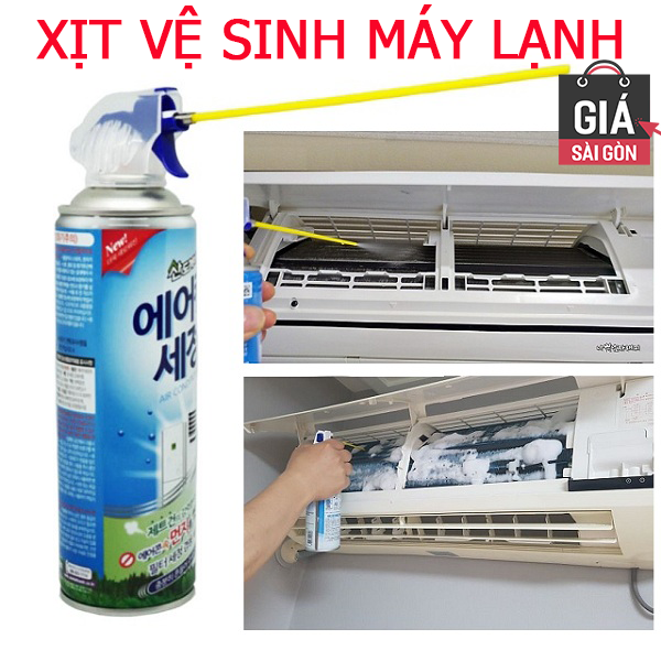 [HCM]Xịt vệ sinh máy lạnh điều hòa Sandokkaebi 330ml – Thương hiệu Hàn Quốc GSG829