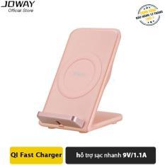 Sạc Không Dây JOWAY WXC05 chuẩn QI cho Iphone X, 8/8plus, Samsung S8/S8, Oppo, Xiaomi – Hãng phân phối chính thức