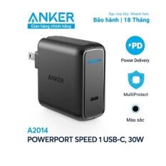 Sạc NHANH Anker 30W QUICK CHARGE 3.0 USB Type-C A2014 NEW 2020 – NoBox Mới 100% ZIN HÃNG 100% – BH 18TH