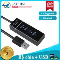 Bộ chia cổng USB HUB USB Cát Thái 4 usb cổng 2.0 truyền tải ổn định chia nhiều cổng USB chuyền đổi tốc độ cao điện thoại máy tính bảng 1 chia 4 chức năng sạc [BẢO HÀNH 1 ĐỔI 1]