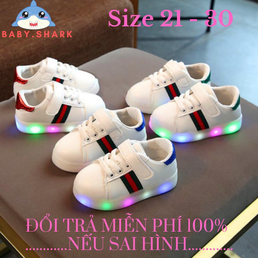 Giày sneaker nam cho bé trai , giày nam cho bé giày thể thao có đèn led phát sáng cho bé trai và bé gái cho bé từ 1 đến 6 tuổi