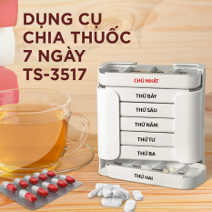 [Nhựa Tashuan] Hộp chia thuốc 7 ngày, 4 buổi 1 ngày, dạng khay