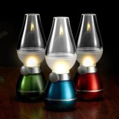 Đèn dầu cảm ứng đèn dầu thổi tắt , sáng, không khói cảm ứng khi thổi LED màu ngẫu nhiên,để bàn thờ tiện lợi