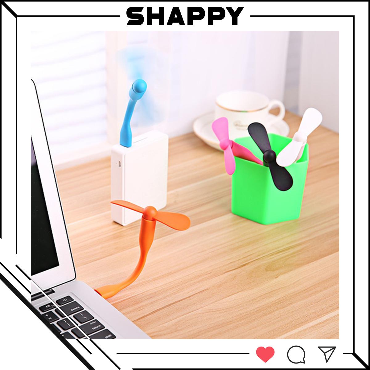 Quạt Mini Cổng USB 2 Cánh Tháo Rời - Giao Màu Ngẫu Nhiên [Shappy Shop]
